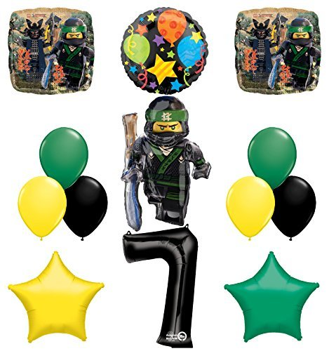 The Ultimate Lego Ninjago 7th Birthday Party Supplies and Balloon Decorations]()