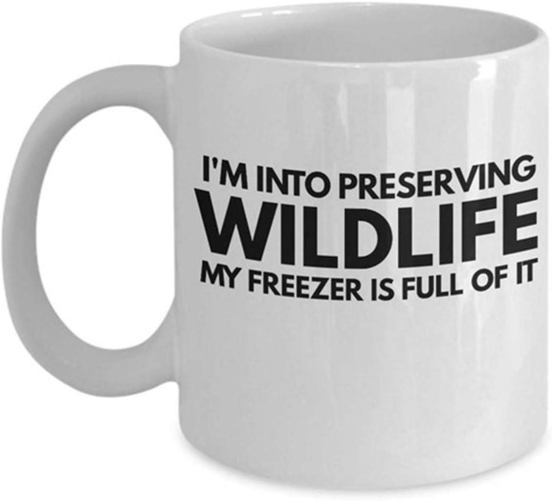 Taza para hombres con diseño de vida silvestre, regalo para el día del padre, regalo de caza para el amante de la caza inapropiado tazas divertidas