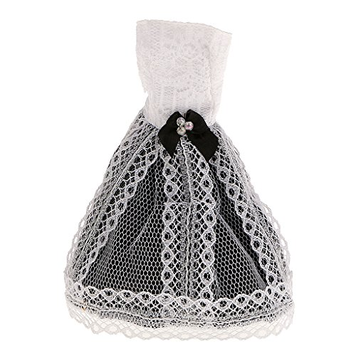 MagiDeal Stunning Handmade Black and White Skirts Dress Clothes for Barbie Doll