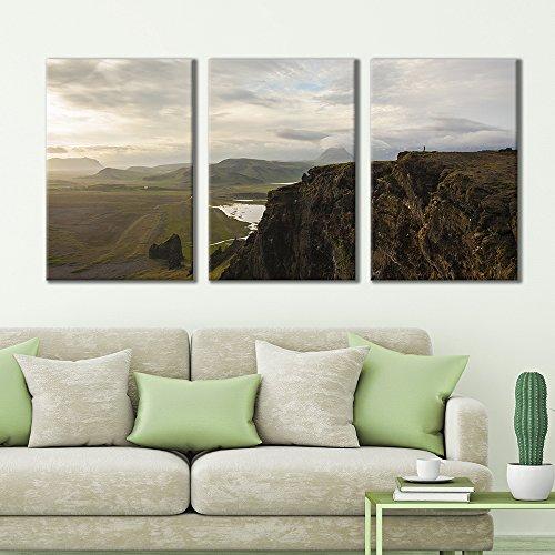 3 Panel Majestic Natural Landscape Triptych Series Quiet Cliffs x 3 Panels