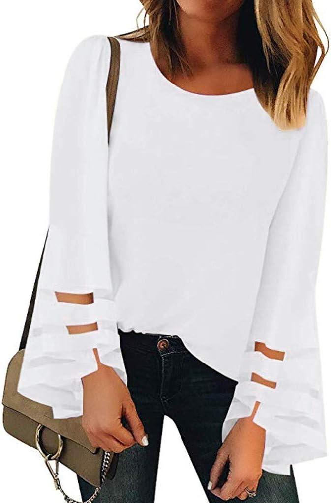Ropa Camisetas Mujer, ZODOF Camisas Mujer Verano Elegantes ...