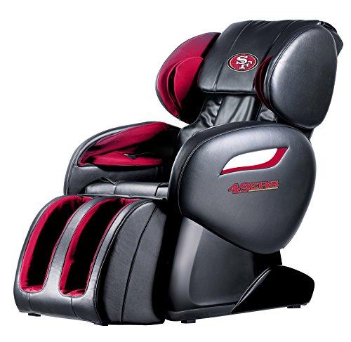 NFL San Francisco 49ers Electric Full Body Shiatsu Massage Chair Foot Roller Zero Gravity w/Heat from BestMassage