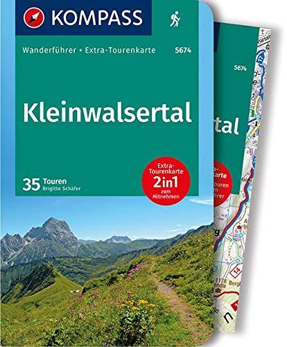 Kleinwalsertal: 2in1 Wanderführer mit Extra-Tourenkarte 1:25.000, 35 Touren, GPX-Daten zum Download (KOMPASS-Wanderführer, Band 5674) Taschenbuch – 25. Mai 2018 Brigitte Schäfer 3990441493 Deutschland Schweiz