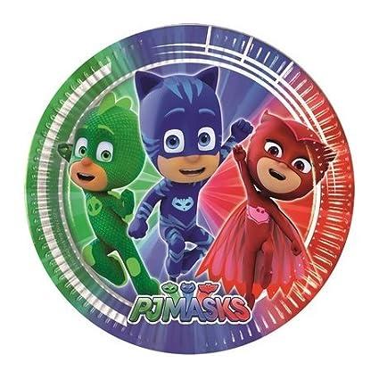 Kit TIPILIANO para NIÑOS | Birthday Party Kit PJ Masks, Pigiamini | Producto Original | Formato de conveniencia | Todo LO Necesita | Fiesta temática, ...