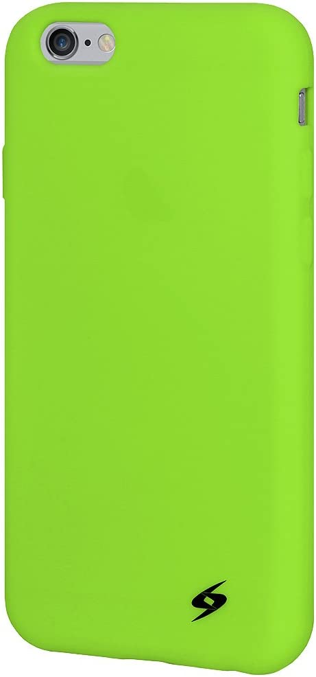 Amzer Soft Silicone Skin Fit Jelly Case Cover for Apple iPhone 6, iPhone 6s - Retail Packaging - Green