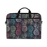 ALAZA Retro Pineapple Tropical Fruit 15 inch Laptop Case Shoulder Bag Crossbody Briefcase Messenger Sleeve for Women Men Girls Boys with Shoulder Strap Handle, Back to School Gifts for Her Him