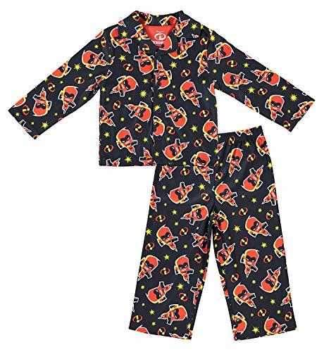 Incredibles 2 Disney Boys Pajamas - 2-Piece Long Sleeve Pajama Set (Black, -