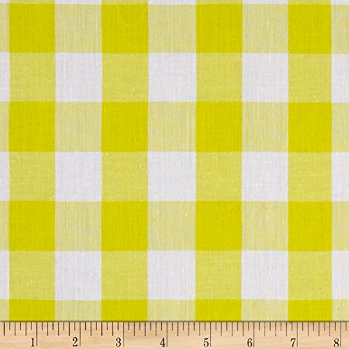 Richland Textiles Richcheck 60in Gingham Check 1in Yellow Fabric by The ()