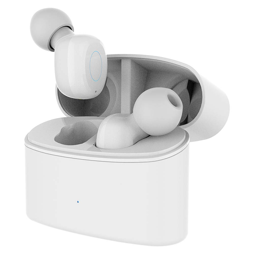 Vacio 2019 New Wireless Bluetooth Earbuds - Truly in-Ear Earphones with a Charging Box Earphone Intellingent Noise Reduction Waterproof Headset -Compatible with Samsung, Apple,Sony,HTC (White)