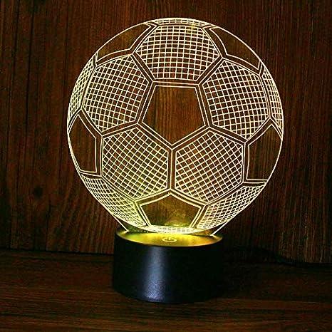 3D Ilusión óptica Lámpara LED Luz El futbol de noche Deco ...