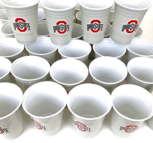 - Ohio States barbecue cookout 4th of July Jumbo party cups set of 36. Large plastic colorful 18 z. game day plastic cups