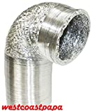 12'' Inch x 33' Non Insulated Flexible Aluminum Air Ventilation Ducting Hose
