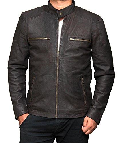 Distress Leather Jacket - 2