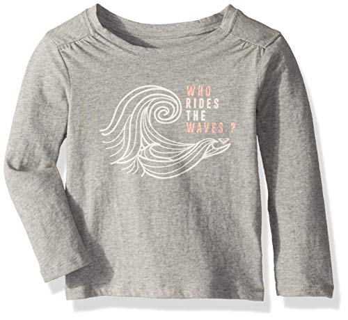 Roxy Girls' Toddler Shape and Shadow Long Sleeve T-Shirt, Heritage Heather, 2 ()