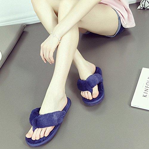 Blu Calde Infradito da morbide Ancoz Colori Antiscivolo in Pantofole Donna 5 qIFgvwg