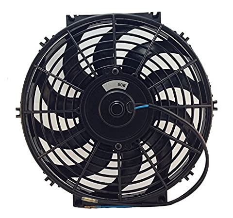 d-Ap DC24V 12 inch Electric Cooling Radiator Fan With Fan Mounting Kit (12 inches, 24V PUSH)