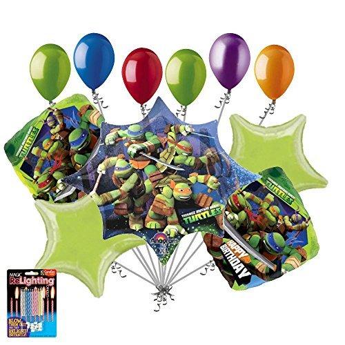 11 pc Teenage Mutant Ninja Turtle Balloon Bouquet Party Decoration Super Hero]()