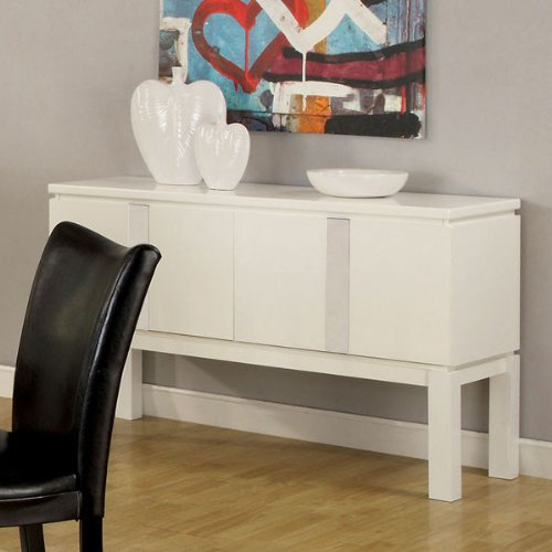 247SHOPATHOME Idf-3176WH-SV Sideboards, White by 247SHOPATHOME (Image #1)