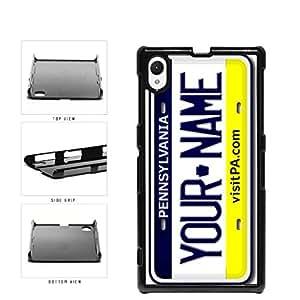 Personalized Custom Pennsylvania License Plate Plastic Phone Case Back Cover Xperia Z1