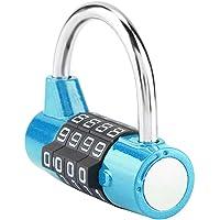 Cerradura de contraseña de puerta, candado de combinación de código de 4 dígitos, cerradura de contraseña de seguridad…