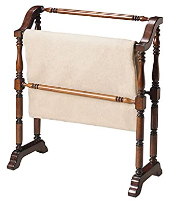 Accent Furniture - Plymouth Blanket Rack - Quilt Rack - Cherry Finish from Kensington Row Collection