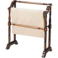 Accent Furniture - Plymouth Blanket Rack - Quilt Rack - Cherry Finish
