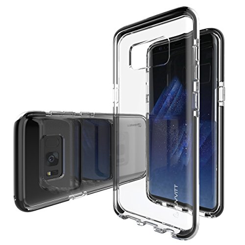 Galaxy S8 Plus Case, LUVVITT [PROOFTECH] Shockproof Impact Resistant Protective TPE Shock Absorption Bumper Case for Galaxy S8+ Plus – Clear / Black