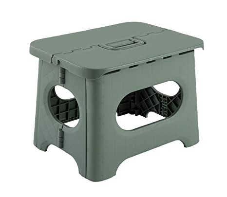 Astonishing Insha 8 6 Inch Folding Step Stool Super Strong Sturdy Non Slip Portable Foldable Stool With Handle For Adult And Kids Green Ncnpc Chair Design For Home Ncnpcorg