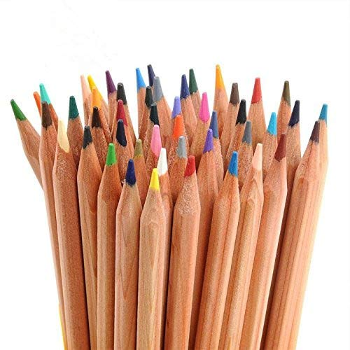 HLWSUPER Colored Pencils, TOP 24-Color Set for Adults and Kids/Vibrant Colors,Drawing Pencils for Sketch, Arts, Coloring Books (Cylinder) ...