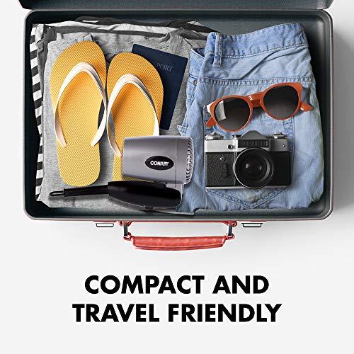 Conair 124AC 1600 Watt Compact Travel Hair Dryer with Folding Handle