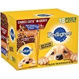 Cheap Pedigree Choice CUTS in Gravy Adult Wet Dog Food Variety Pack, (18) 3.5 oz. Pouches