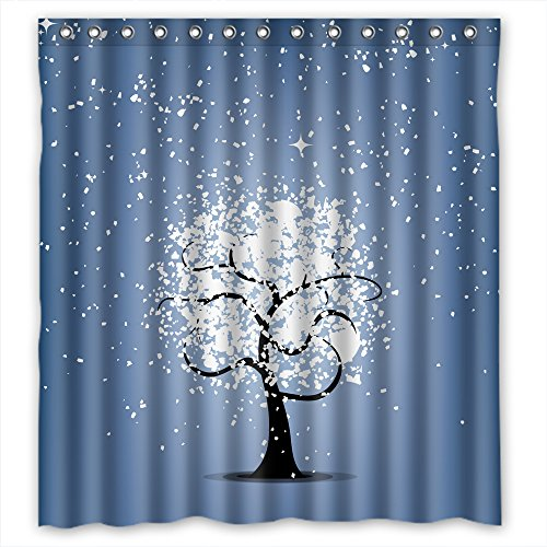 Price comparison product image MaSoyy Tree Bathroom Curtains Polyester Best For Husband Birthday Her Mother Teens. Wipe Clean Width X Height / 72 X 72 Inches / W H 180 By 180 Cm(fabric)