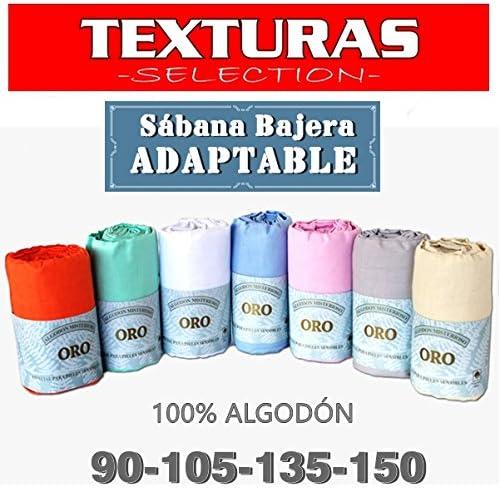 Sábana Bajera Ajustable 100% Algodón Texturas Oro Cama 135 (Rosa ...