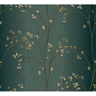 York Wallcoverings Whisper Prints Vertical Blossoms Wallpaper