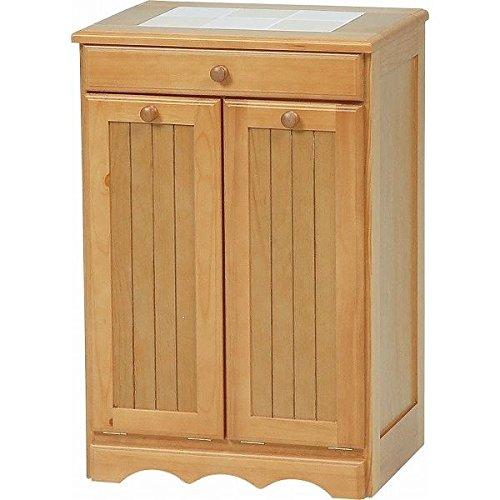 ダストボックス 木製おしゃれゴミ箱 2分別 15Lペール2個 キャスター付き ナチュラル 【 完成品 】 【デザインファニチャー】 B01LXV0DZD 2分別 15Lペール2個|ナチュラル ナチュラル 2分別 15Lペール2個