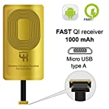 QI Receiver Type A for Samsung Galaxy J7 - J3-J6- S5 - LG V10 -LG Stylo 2-3 -Plus - QI Wireless Adapter– Wireless Charging Receiver- QI Receiver Adapter Samsung -Qi Charger Adapter Samsung Galaxy J7