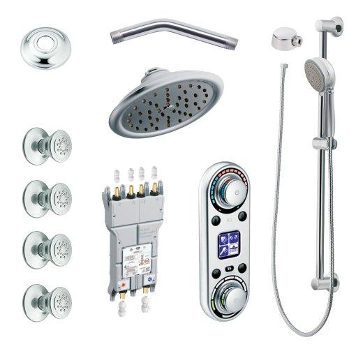 - Moen KSPIO-HSB-TS295CR Vertical Spa Kit with Handheld Shower and Slide Bar, Chrome