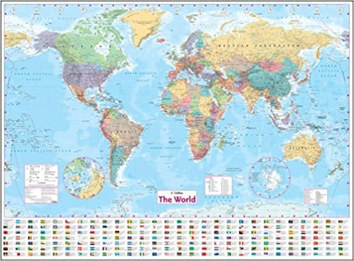Collins world wall laminated map wall map amazon collins world wall laminated map wall map amazon harpercollins 9780007326884 books gumiabroncs Choice Image