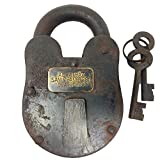 Cast Iron Alcatraz Penitentiary Prison Padlock Lock With Keys