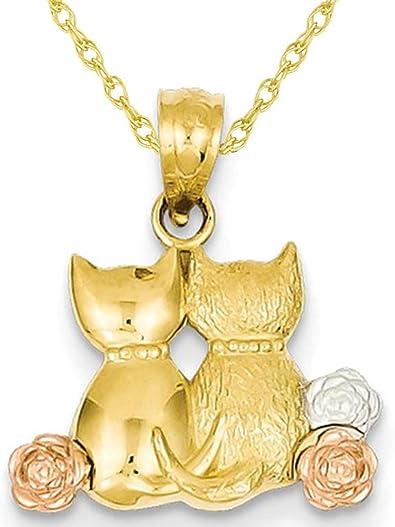 14k Yellow Gold Cat Pendant