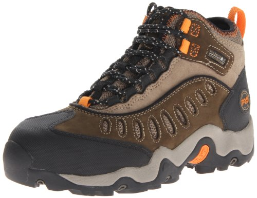 Timberland PRO Men's Mudslinger Mid Waterproof Lace-Up Fashion Sneaker,Brown Nubuck,15 W US Athletic Steel Toe Hiking Boots