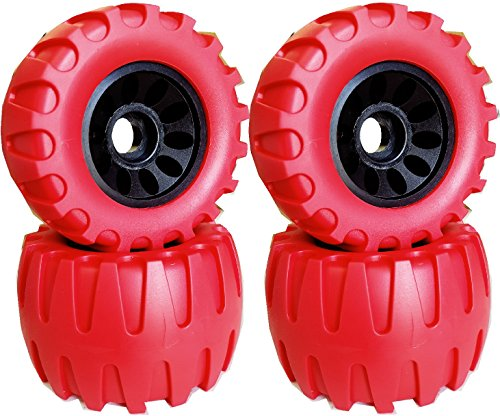 New 113X64mm Off Road Longboard/Mountainboard Rubber Wheel W/Hard Core Set of 4 Color Red