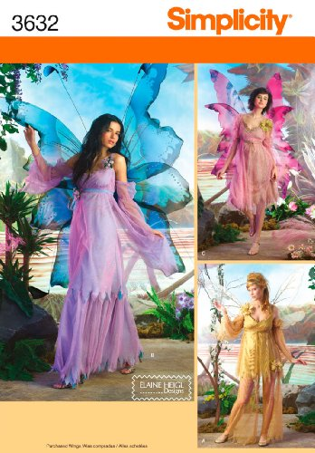 Pattern Fairy Costume (Simplicity Sewing Pattern 3632 Misses Costumes, HH)