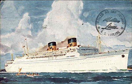 Matson Lines Luxury Liner Lurline Boats Ships Original Vintage Postcard