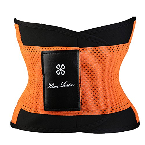 cef66381df EJZO Unisex Xtreme Power Belt Hot Slimming Thermo Shaper Waist Trainer Faja  Sport (Orange
