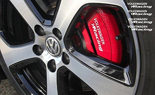 Volkswagen Racing - VW Volkswagen Racing Brake caliper Mirror Window decal set 4pcs, 90mm (white)