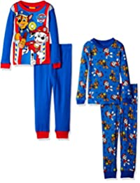 Nickelodeon boys Paw Patrol Toddler 4-piece Pajama Set