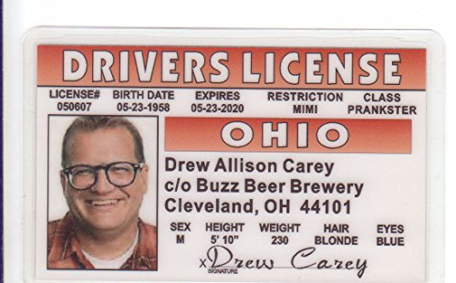 Drew Carey Novelty Drivers License / Fake I.d. Identification for the Price Is Right - Fake Prices Id