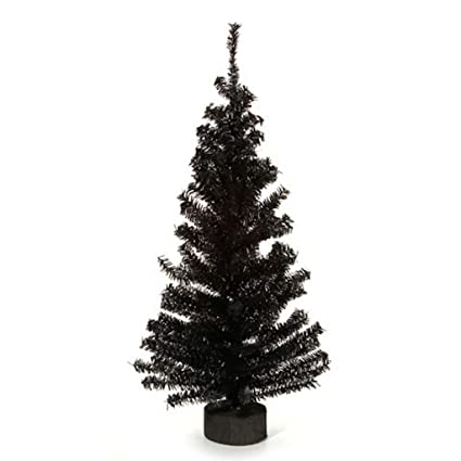 Amazon Com 2 Foot Black Artificial Pine Tree For Christmas
