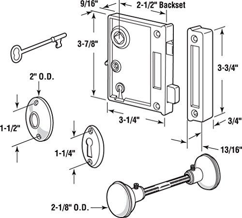Buy prime line e 2437 trim lock set, vertical